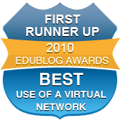 First Runner Up Edublog Awards